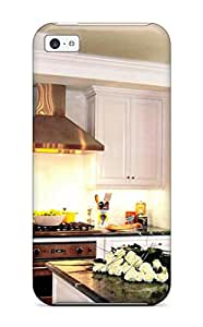 Tpu Fashionable Design Traditional Kitchen With White Cabinets And Crystal Chandelier Rugged Case Cover For Iphone 5c New