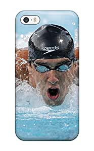Fashion Tpu Case For Iphone 5/5s- Michael Phelps Poster Defender Case Cover