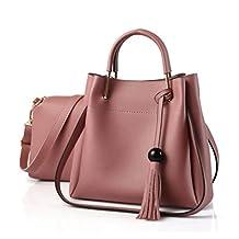 XibeiTrade Women 2 Pieces Set Top Handle Handbags Tote Purse Handbag