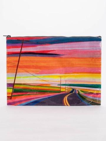 blue-q-bags-jumbo-zipper-pouch-sunset-highway