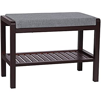 Amazon Com Sobuy Storage Bench With 3 Drawers Amp Seat