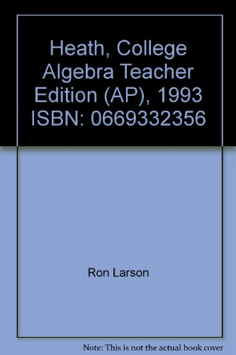 College Algebra (Instructor's Annotated Edition)