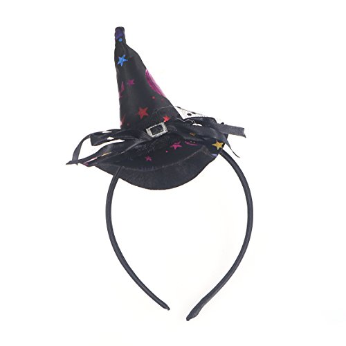 (BESTOYARD Children Halloween Headwear Mini Pointy Witch Hat Cute Hair Hoop Hairband Accessories Cosplay Party Props Decoration)