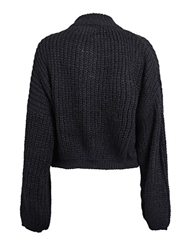 4d4daf1df2 Simplee Women s Casual Long Sleeve Loose Pullover Knit Sweater Jumper Top  (ONE Size