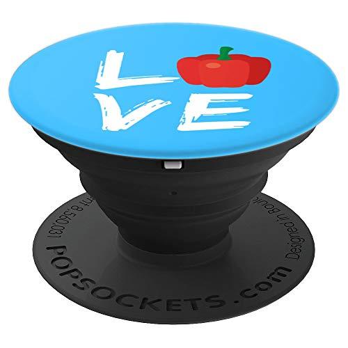 (Vegan Vegetarian Love Gardeners Bell Pepper Farmer Design - PopSockets Grip and Stand for Phones and Tablets)