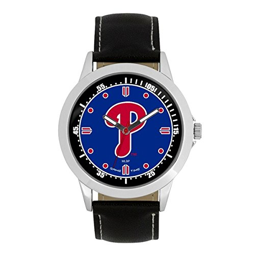 Player Mlb Phillies (Philadelphia Phillies P Logo Player Mens Wrist Watch)