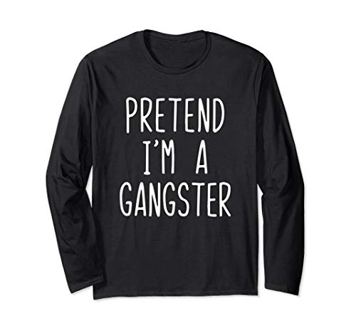 Gangster Halloween Costumes 2019 (Pretend I'm A Gangster Costume Halloween Lazy Easy Long Sleeve)