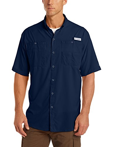 Columbia Men's Tamiami II Short Sleeve Fishing Shirt, Collegiate Navy, 2XT