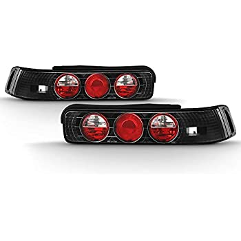Black Halo Tail Lights 1 Pair For 90 91 92 93 Acura Integra Hatchback