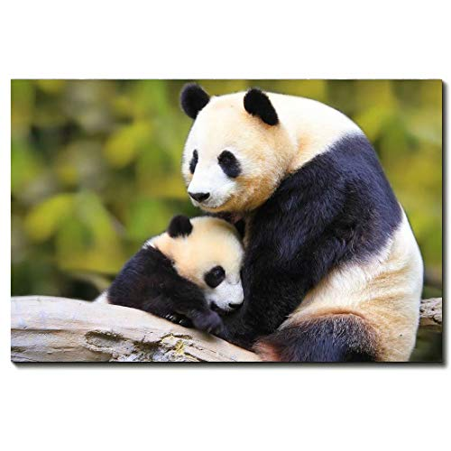 Panda Canvas Reproduction - Panda Animal Oil Painting Reproduction On Canvas Prints Wall Art,12 * 18inch(30 * 45cm)
