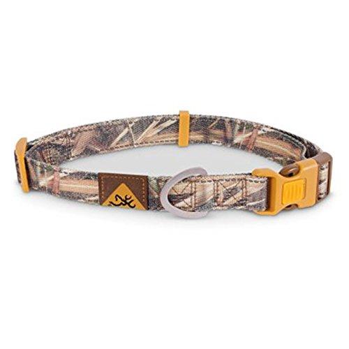 Browning Classic Adjustable Camouflage Webbing Dog Collar - Medium - Mossy Oak Blades Camo - 14