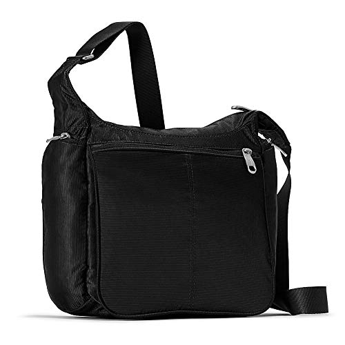 eBags Piazza Daybag 2.0 with RFID Security - Small Satchel Crossbody for Travel, Work, Business - (Black)