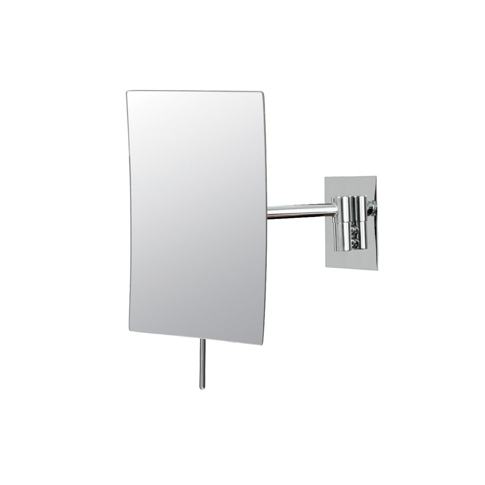 Wall mounted makeup mirror square 3x in wall mirrors - Amazon Com Mirror Image 21843 Minimalist Rectangular Wall Mirror 3x Magnification Chrome Home Kitchen