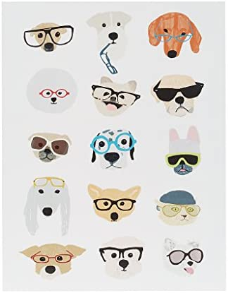 Intelligent Design Hip Dog Canvas Wall Art 14X18, Novelty Casual Wall D cor