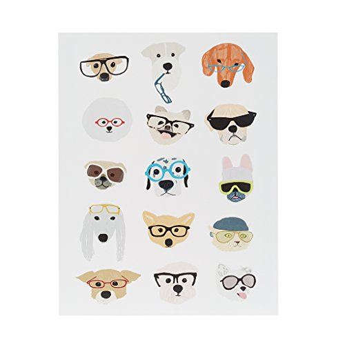 - Intelligent Design Hip Dog Canvas Wall Art 14X18, Novelty Casual Wall Décor