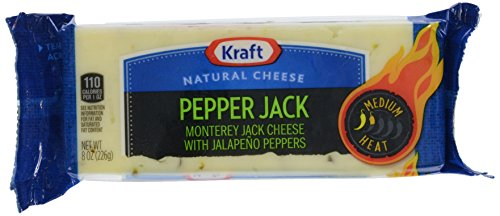 UPC 021000001965, Kraft Cheese Natural Cheese, Monterey Jack with Jalapeno Peppers, Chunk, 8 oz