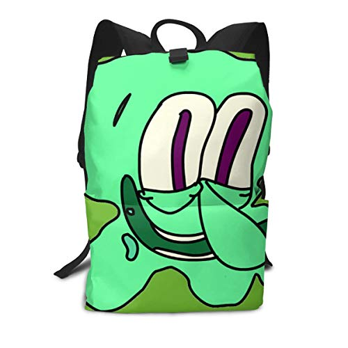JacobCloe Men's Green Squidward Tentacles Solid And Wear Resistant Lightweight Backpacks For ()