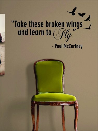 Learn to Fly The Beatles Paul McCartney Quote Decal Sticker Wall Vinyl Music (Beatles Decals Wall)