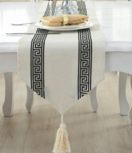 US-ROGEWIN Table Runner Refined Tassels Simple Modern Luxury