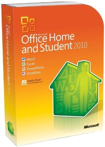 Microsoft Office Home and Student 2010 32/64-bit - Family Pack - 3 Users