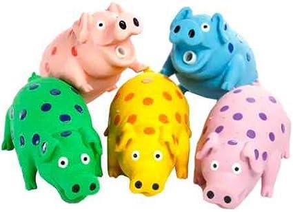 Multipet/'S 9-Inch Latex Polka Dot Globlet Pig Dog Toy Assorted Colors