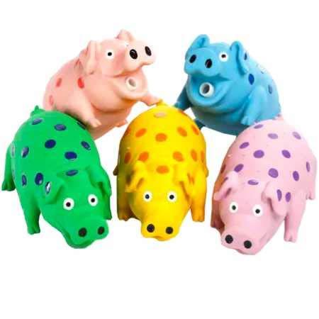 """Multipet 9"""" Latex Polka Dot Goblet Pig Dog Toy (Assorted)"""