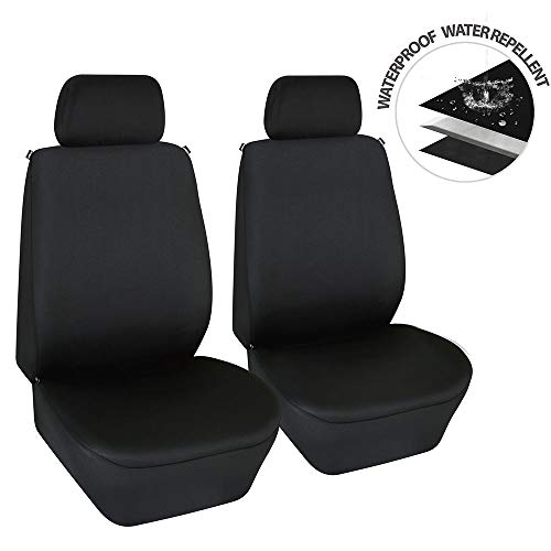 Elantrip Dual Waterproof Neoprene Front Seat Covers Car Bucket Seat Cover Universal Fit Airbag Compatible for Auto SUV Truck Van, Black 2 PC (Best Bucket Seat Covers)