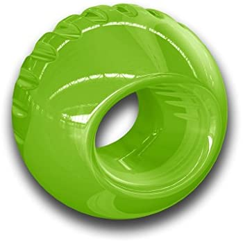 Tough Rubber Dog Ball, Durable Chew Toy for Large Dogs by Bionic, Large, Green