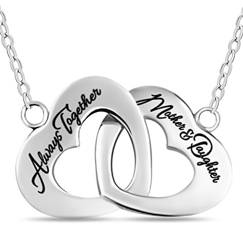 Sterling Daughter Necklace Gold Silver Interlocking product image