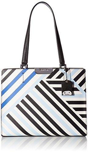 Calvin Klein Lola Saffiano Geometric Satchel, Geometric Stripe by Calvin Klein