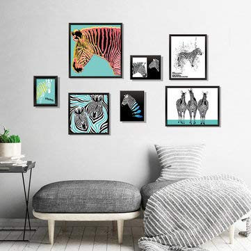 Seven-dimensional Stereo Photo Frame Zebra Wall Sticker - Home Decor Sticker Wall Stickers ()
