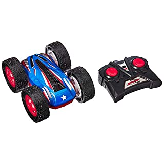 Click N' Play Remote Control Stunt Car Cyclone Rechargeable Rc Double-Sided Flip Radio Flashing LED Lights Off Road High Speed Vehicle