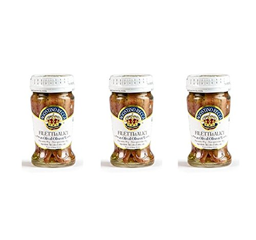 Agostino Recca Anchovies Fillet 3oz (Pack of 3) -