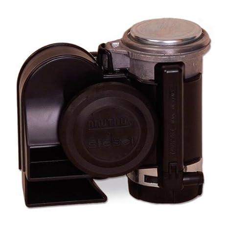 Amazon.com: Stebel 11690019 - Nautilus Compact Mini Air Horn Black on horn for atv, horn for car, horn for utv,