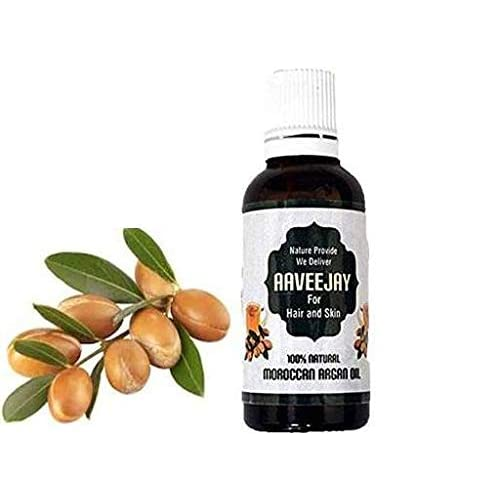 Aaveejay Argan Oil - 30ml Bottle With Dropper,Natural Pure Organic Cold Pressed Unrefined Moroccan Argan oil