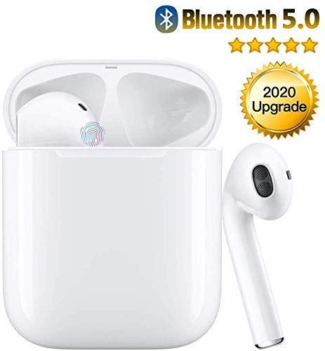 Wireless Earbuds Bluetooth 5.0 Headsets 3D Stereo Headphones with Fast Charging Case,Auto Pairing in-Ear Ear Buds IPX5 Waterproof Mini Sports Earphones for iPhone Apple Airpods Pro Bluetooth Earbuds