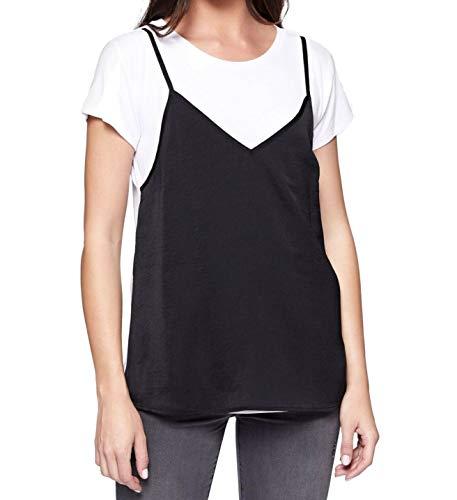 Sanctuary Clothing Women's Shay T-Shirt Faux Cami