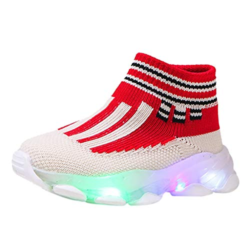 LED Light Up Shoes,Londony  Unisex LED Shoes High Top Breathable Sneakers Light Up Shoes for Women Men Girls Boys