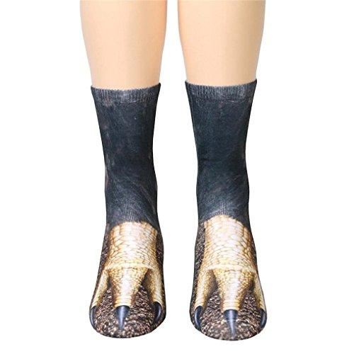 Sagton® Fashion Animal Paw Crew Socks, Women Man Adult 3d Print Floor Socks F