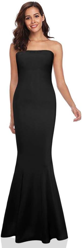 AILMY - Vestido elegante para mujer sexy sin mangas, suave, atractivo y sólido maxi vestido de sirena: Amazon.com.mx: Ropa, Zapatos y Accesorios