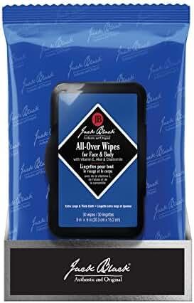 Jack Black 30 Piece All-Over Wipes, 7.8 oz.