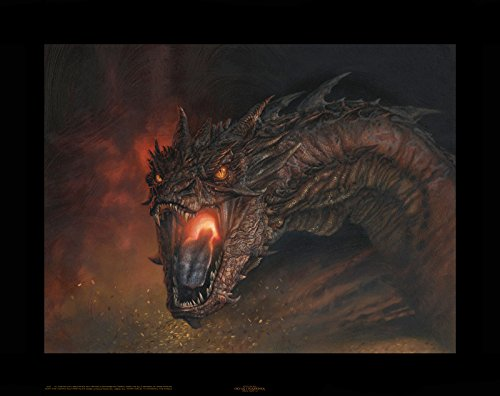 Smaug - King Under the Mountain Canvas Giclee Art Print from VanderStelt Studio