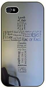 Jesus Christ cross - Lamb of God - Chair on corner - Bible verse iPhone 5C black plastic case / Christian verses