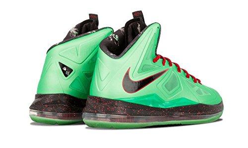 Nike Lebron X Cutting Jade (tormalina / Nero-università Rosso)