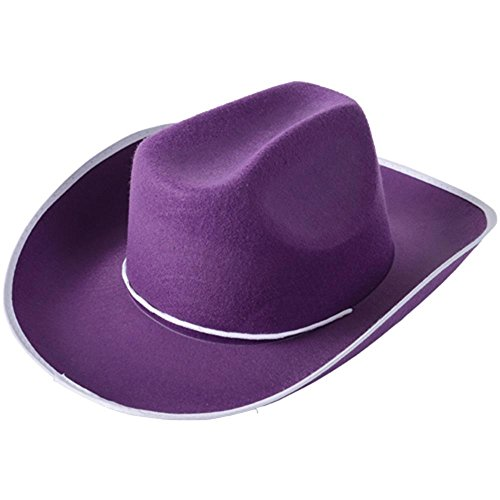 One Adult Purple Cowboy Hat
