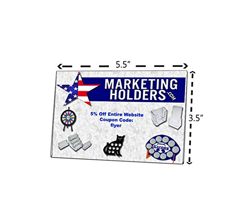 Marketing Holders Lot of 24 - 5.5''W x 3.5''H Wall Mount Ad Frame - Sign Holder Without Mounting Holes by Marketing Holders