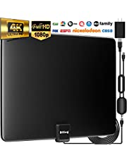 [Upgraded 2020] Biling TV Antenna for Digital TV Indoor, 90-130 Miles Digital Antenna Indoor Amplified HD Antenna, HDTV Antenna with Amplifier Signal Booster - 13.2ft Coax Cable/USB Power Adapter