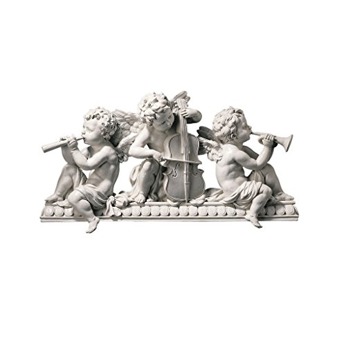 - Design Toscano Angelic Notes Sculptural Wall Pediment
