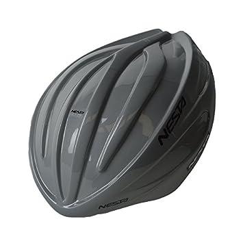 Nesta Fabel Aero Carcasa para Casco de Ciclismo, Unisex Adulto, Gris Brillo, Talla