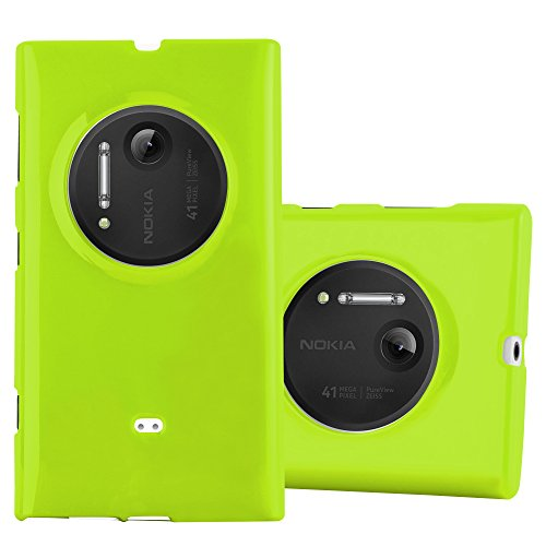 Cadorabo Case Works with Nokia Lumia 1020 in Jelly Green - Shockproof and Scratch Resistant TPU Silicone Cover - Ultra Slim Protective Gel Shell Bumper Back Skin (Nokia 1020 Clear Case)